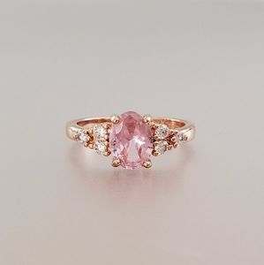 Jewelry - Intro Sale! Pink Oval-Cut Center Stone Ring